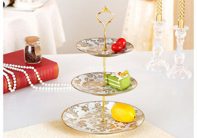 New 2 Or 3 Tier Cake Decorating Plate Stand for Party Weeding Birthday Silver
