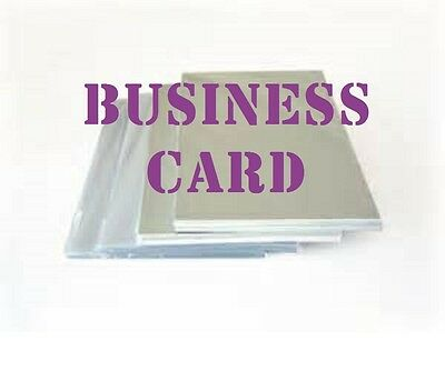 50 Business Card Hot Laminating Pouches 10 Mil 2-1/4 x 3-3/4 Ultra Clear