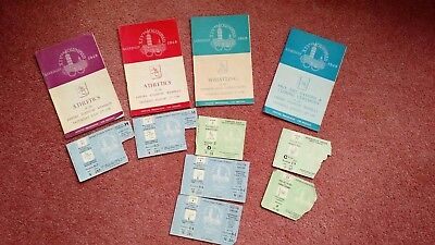 4 X 1948 LondonOlympic Programmes (Incl.Closing Ceremony) plus 7 X Tkt. Stubs