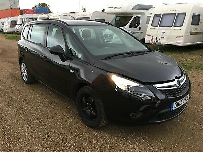 2015 Vauxhall Zafira Tourer Exclusiv Turbo 7 Seater Salvage Damaged Cat D Projec