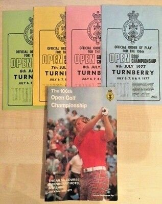 1977 British Open programme with order of plays. Turnberry - Duel In The Sun