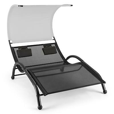 Garden Chair Bench Swinging Lounger Steel Canopy Pillows Weatherproof 2 Seater
