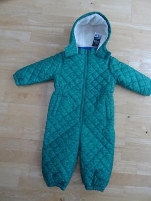 NEXT baby boys green car print padded all in one snowsuit jacket AGE 18-24 MONTH