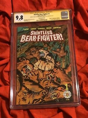 Cgc Ss 9.8~Shirtless Bear Fighter #1~Variant Con Ed~Signed~Greene+Leheup+Girner~