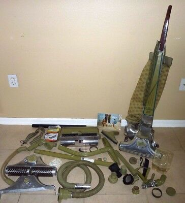Vintage Kirby Dual Sanitronic 80 Vacuum Cleaner w/ Attachments Tools Accessories