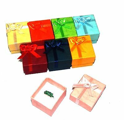 Wholesale lot of 144 Pastel Ribbon Ring Gift Boxes Jewelry Display 8 Asst Colors