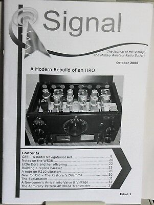 SIGNAL No 1 -The  Magazine of the Vintage Military Radio Society - HRO - Paraset