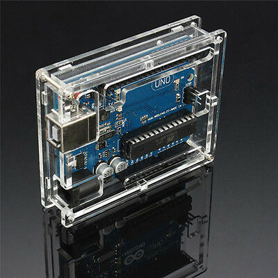 Transparent Case Acrylic Cover Shell Enclosure Computer Box For Arduino UNO FG