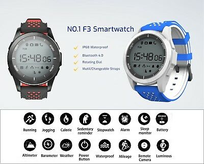 2017 'F3' Fitness Activity Tracker Bluetooth Smartwatch Bracelet For iOS Android