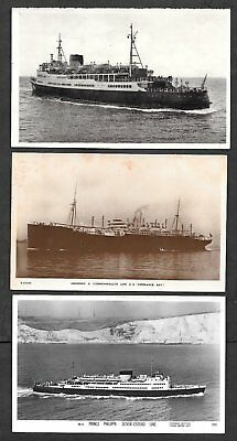 6 x PHOTO POSTCARDS OF BOATS & SHIPS.