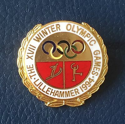 Rare vintage Lillehammer (Norway) Winter Olympic Games 1994 badge