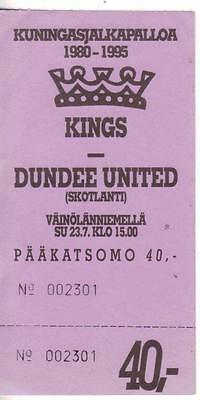 1995/96   Kings (Finland?)    v    Dundee Utd    Complete   Excellent