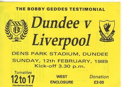 1988/89      Dundee    v    Liverpool     Complete Unused Perfect    Testimonial