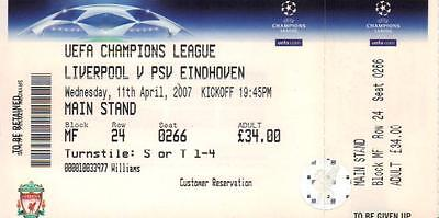 2006/07    Liverpool    v    PSV Eindhoven  Q/F    Complete  Unused  Perfect