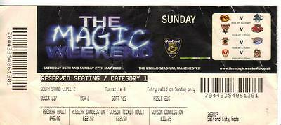 2012 The MAGIC Weekend - Etihad Stadium - Salford - St. Helens - Wigan - Leeds +