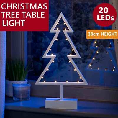 Christmas Tree Table Light LED Decoration 38cm(h) White