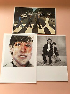Lot of 3 Beatles post cards National Portrait Gallery Terry O'Neill Sam Walsh