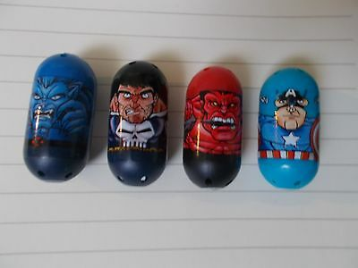 Marvel Mighty Beanz Lot, Beast 32, Punisher 11, Captain America 3 & More!