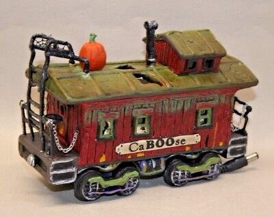 Pre-Owned Dept 56 Snow Village Halloween 10th Ann. Haunted Rails Caboose