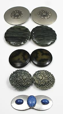 Vintage Two Piece Round Belt Buckles Lot of 5