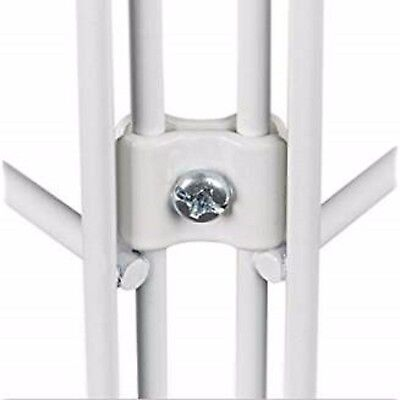 Gridwall Joining Connectors - Grid Panel Joiner Clips - White - 12 Pieces