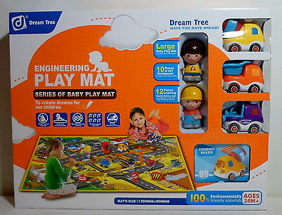 DREAM TREE BOB THE BUILDER LARGE BABY PLAY MAT w/FIGURES VEHICLES LEARNING CARDS