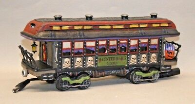 Pre-Owned Dept 56 Snow Village Halloween Haunted Rails Passenger Car 10th Year