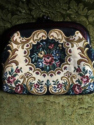 Vintage Retro Tapestry Clutch Purse