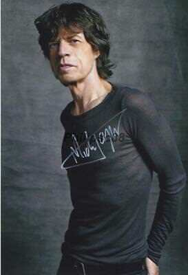 Mick Jagger Genuine Autographed 12x8inch photograph