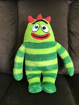 "Yo Gabba Gabba Brobee Talking Singing 12"" Plush Toy Doll 2008 Spin Master Green"