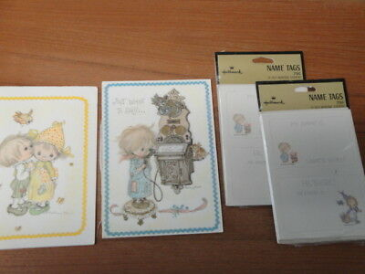 Lot of  Vintage  Hallmark  BETSEY CLARK  Post Cards & Name Sticker Tags