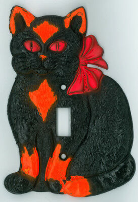 Black Cat Halloween Glow in the Dark Light Switch Plate