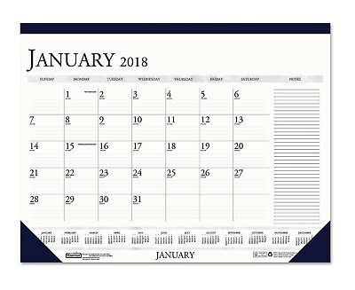 2018 Monthly Desk Calendar W/Large Notes Section 18 1/2 X13 House Of Doolittle