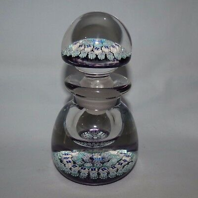 John Deacons Glass Scotland Concentric Pattern Perfume Bottle