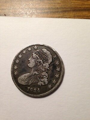 1834 50C Sm Date Small Letters Capped Bust Half Dollar Silver Pre civil war