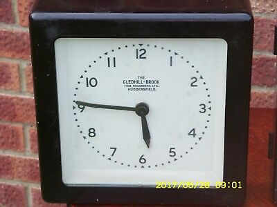 Rare Vintage Gledhill-Brook Synchronome Clock From Huddersfield Factory.