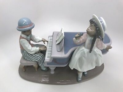 LLADRO #5930 Figurine Black Legacy Collection Jazz Duo Made in Spain 1991