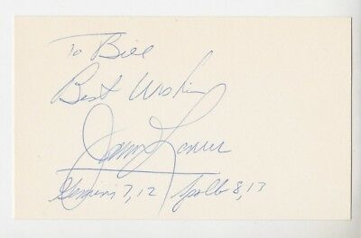 """Jim Lovell Astronaut Autographed 3"""" x 5"""" Index Card"""