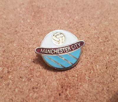 Manchester  City   F c  - Old  Football  Pin  Badge - Coffer