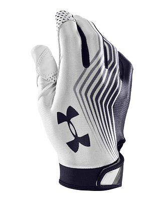 New Under Armour Men's UA Blur II Football Gloves for Skill Players Navy/White L