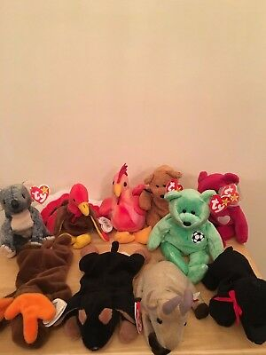 Ty Beanie Bear With Tags Bundle Most Are Retired Or With Errors