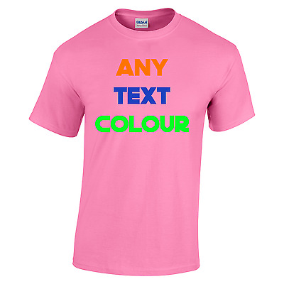 Custom Printing T Shirt PINK - Personalised Stag Hen Run Charity ETC Party