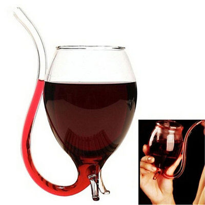 Creative 300ml Vampire Devil Glass Juice Red Wine Cup Mug with Nozzle Party
