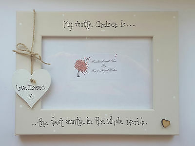 """Personalised Auntie Niece Nephew Sister """"Best In The World"""" 4x6 Photo Frame Gift"""