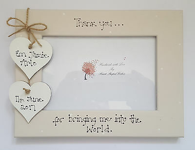 Personalised New Baby Thank You Midwife Friend 4x6 Photo Frame Gift
