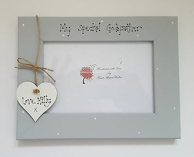 Personalised My Special Godparents Godfather Christening 4x6 Photo Frame Gift