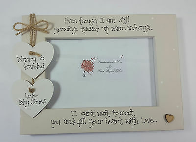 Personalised Baby Scan Grandparents Grandchild Heart with Love 4x6 Photo Frame
