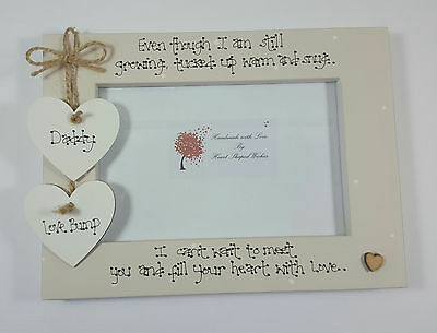 Personalised Baby Scan Daddy Dad To Be Child Heart with Love 4x6 Photo Frame