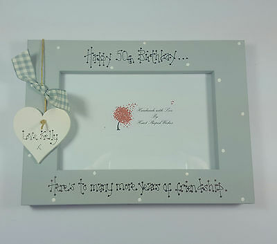 Personalised Friend Friendship Birthday 40th 50th 60th Any Age 4x6 Photo Frame