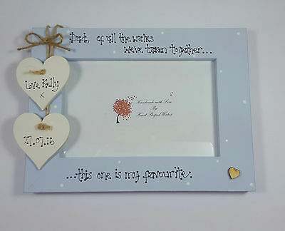 """Personalised Wedding Father of the Bride """"Of all the walks"""" 4x6 Photo Frame"""